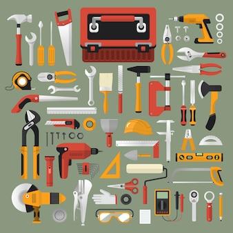 Projekt mechanicznych ilustracji wektorowych