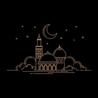 Projekt meczetu w stylu linii sztuki