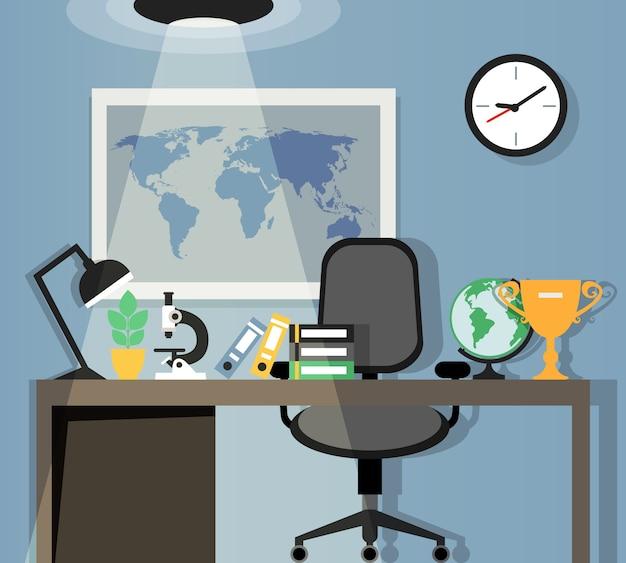 Projekt miejsca pracy w biurze