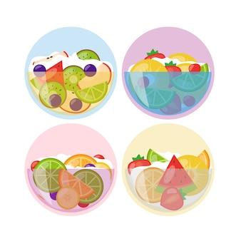 Projekt misek owocowych i sałatkowych