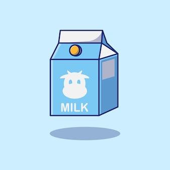 Projekt mleka krowiego w opakowaniu pudełkowym