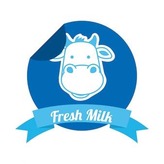 Projekt mleka na białym tle ilustracji wektorowych