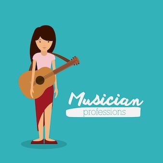 Projekt muzyk kobieta