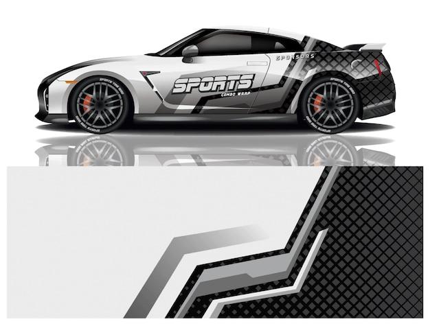 Projekt naklejek na samochód sportowy