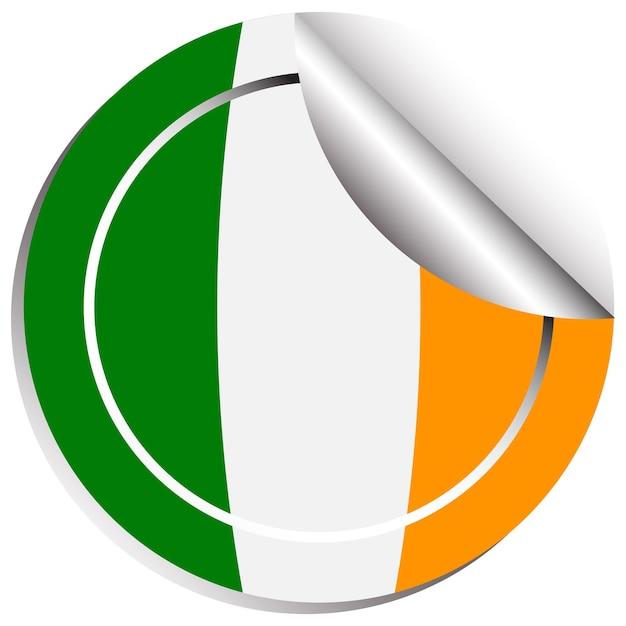 Projekt naklejki na flagę irlandii