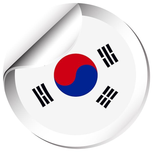 Projekt naklejki na flagę korei południowej