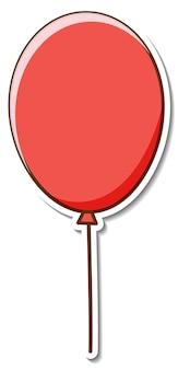 Projekt naklejki z czerwonym balonem na białym tle