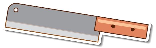 Projekt naklejki z izolowanym sprzętem kuchennym noża