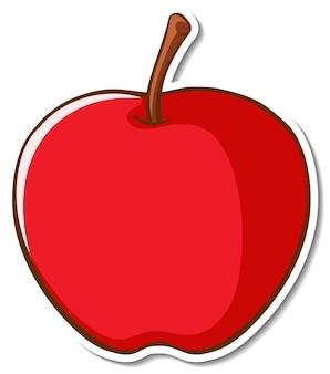 Projekt naklejki z jabłkiem na białym tle