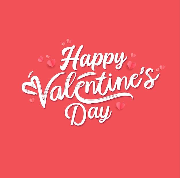 Projekt napisu happy valentiens day