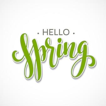 Projekt napisu hello spring.