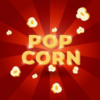 Projekt napisu kukurydzy pop