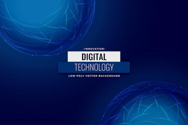Projekt niebieskie tło sieci technologii cyfrowej