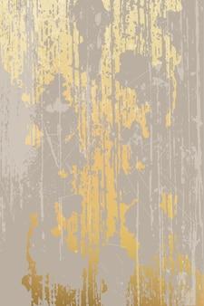 Projekt nieczysty i zadrapania, złote i beżowe tło