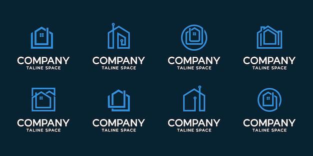 Projekt nowoczesnego logo inteligentnego domu