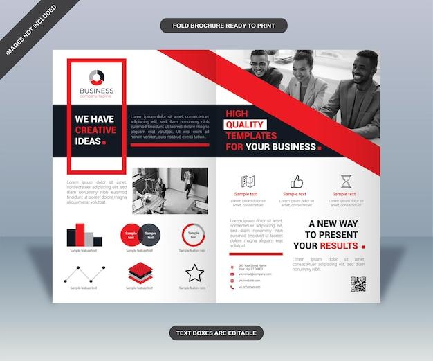 Projekt nowoczesnej składanej broszury biznesowej