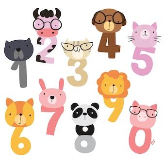 Projekt numer wektora zwierząt
