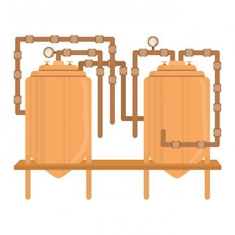 Projekt obrazu ikony zbiorników piwa
