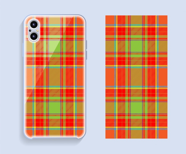 Projekt obudowy smartfona. szablon geometryczny wzór tylnej części telefonu komórkowego.