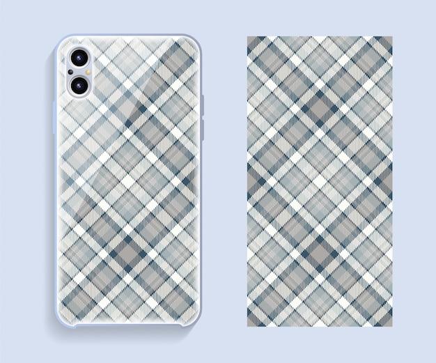 Projekt obudowy telefonu komórkowego. szablon etui na smartfony.