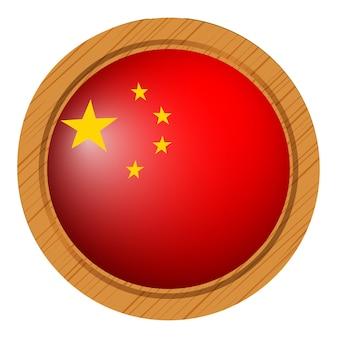 Projekt odznaki dla flagi chin