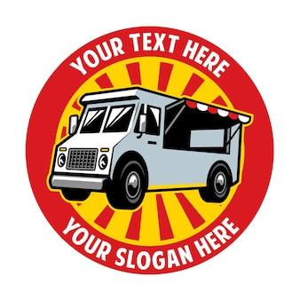 Projekt odznaki food truck