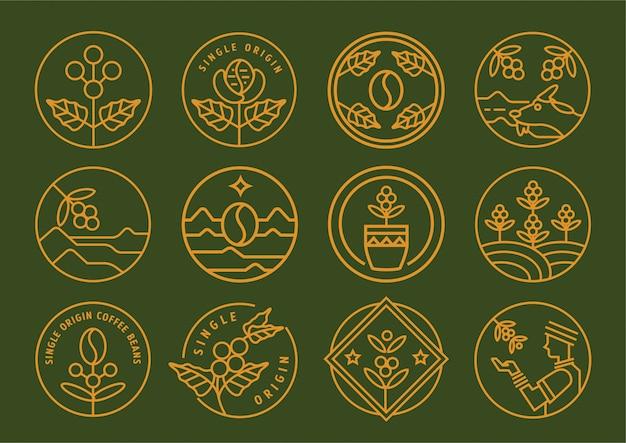 Projekt odznaki linii pojedynczego pochodzenia