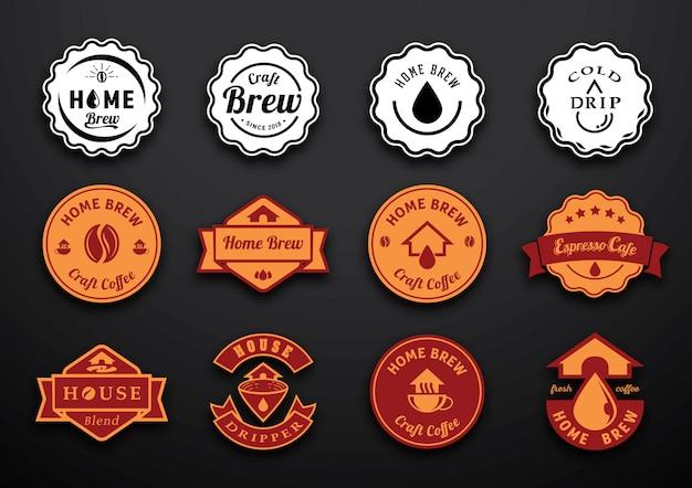 Projekt odznaki parzenia kawy do domu