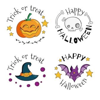 Projekt odznaki sprzedaży festiwalu halloween