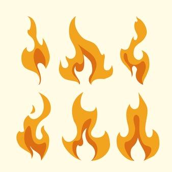 Projekt ognia na białym tle ilustracji wektorowych