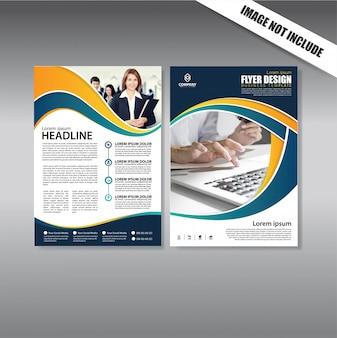 Projekt okładki Ulotka i szablon biznes broszura