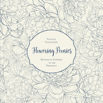 Projekt okładki botanicznej z kwiatowymi elementami.