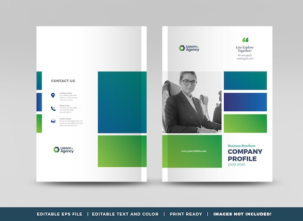Projekt okładki broszury biznesowej lub raportu rocznego oraz okładka profilu firmy lub okładka broszury