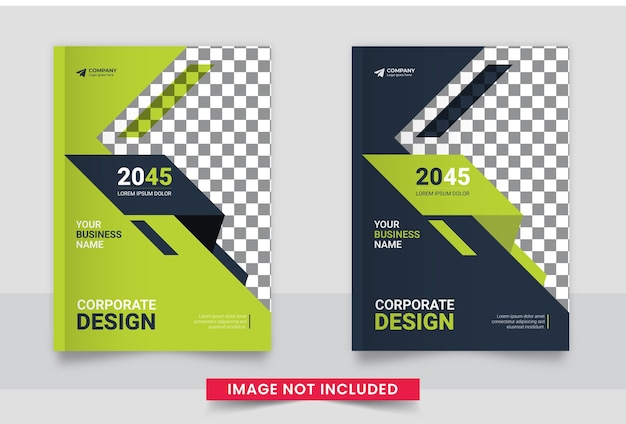 Projekt okładki broszury biznesowej lub raportu rocznego oraz profil firmy lub szablon projektu okładki broszury