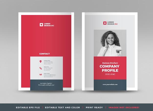 Projekt okładki broszury biznesowej lub sprawozdania rocznego i okładki profilu firmy lub broszury i okładki katalogu