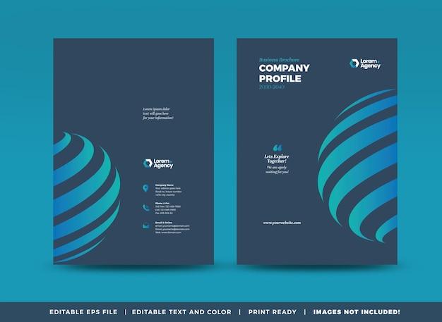 Projekt okładki broszury biznesowej lub sprawozdania rocznego oraz okładka profilu firmy lub okładka broszury