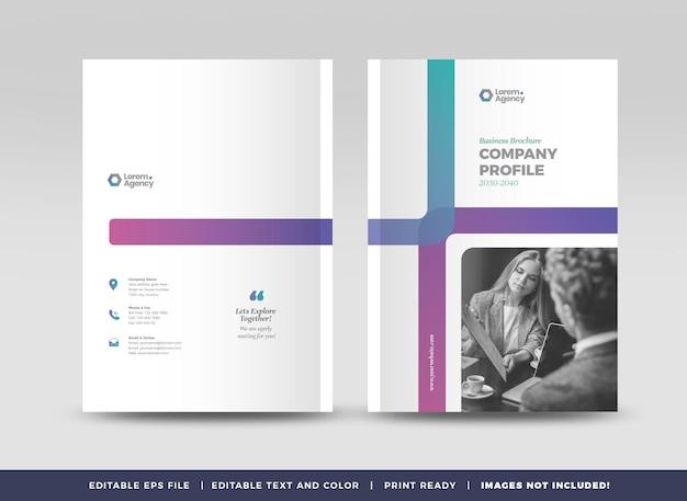Projekt okładki broszury biznesowej lub sprawozdania rocznego oraz profil firmy lub okładka broszury