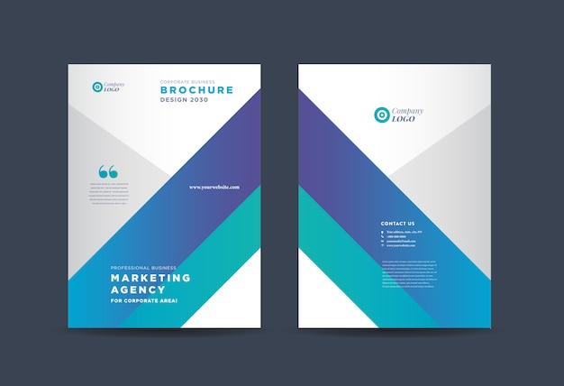 Projekt okładki broszury biznesowej | raport roczny i okładka profilu firmy | okładka broszury i katalogu