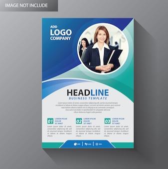 Projekt okładki broszury projekt roczny raport