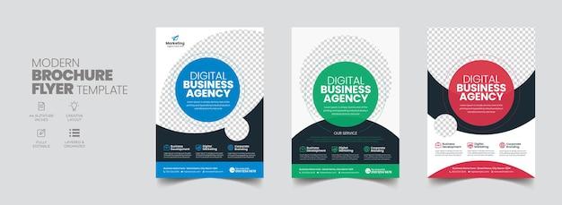 Projekt okładki broszury ulotki korporacyjnej ulotki biznesowej