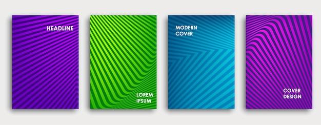 Projekt okładki kolorowe książki. plakat, roczny raport biznesowy firmy, broszura, magazyn, makieta ulotki