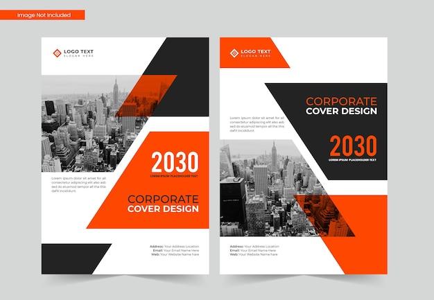 Projekt okładki korporacyjnej książki biznesowej w formacie a4 oraz szablon raportu rocznego i magazynu