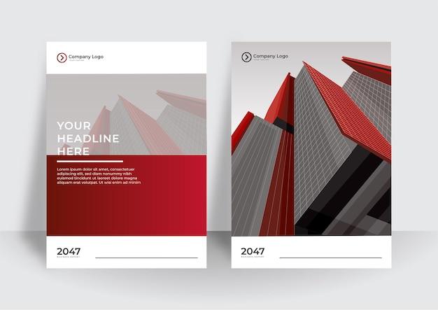 Projekt Okładki Korporacyjnej Lub Tło Szablonu Ulotki Dla Projektu Biznesowego. Nowoczesny Szablon Profilu Firmy W Formacie A4 Premium Wektorów