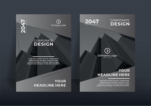 Projekt okładki korporacyjnej lub tło szablonu ulotki dla projektu biznesowego. nowoczesny szablon profilu firmy w formacie a4