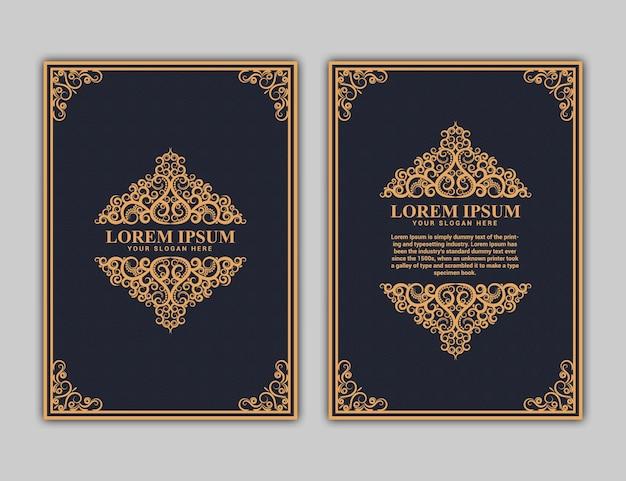 Projekt okładki książki w formacie a4. raport roczny.projekt broszury. prosty wzór. ulotka, promocja