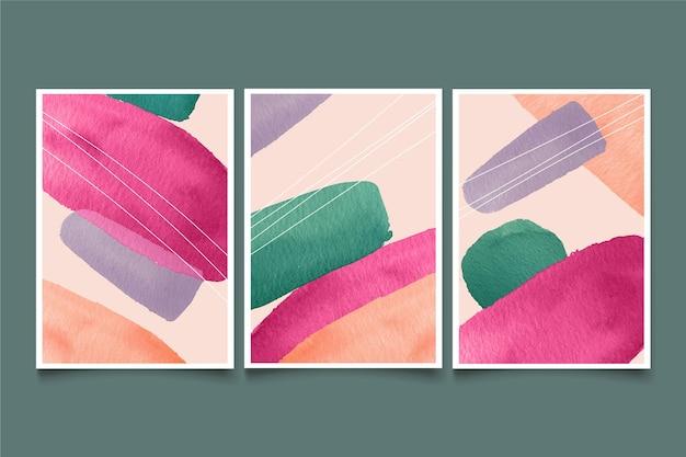 Projekt okładki kształtów akwarela