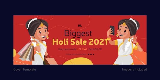 Projekt okładki na facebooku największy szablon sprzedaży holi