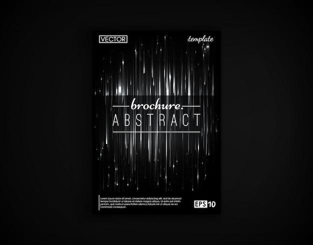 Projekt okładki pocztówki ruch obiektów futurystyczny.