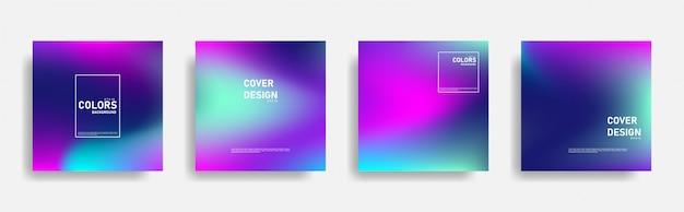 Projekt okładki streszczenie płynnego gradientu. gładkie kolorowe tła.