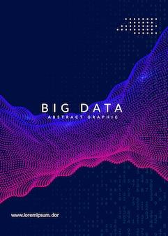 Projekt okładki streszczenie technologia cyfrowa. sztuczna inteligencja